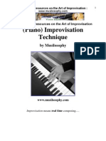 Improvisation Jazz Music Theory Harmony Piano Techniques Chords Scales