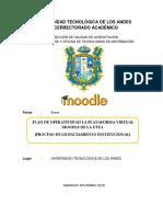 Flujograma Del Proceso de Operatividad de La Plataforma Moodle