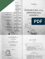 Piaget Introduccion a La Epistemologia Genetica