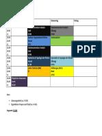 Stunden Plan