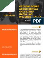 Estudio Sobre Acoso Callejero en Talca Marzo 2018