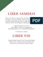 Crowley - Liber Samekh and Liber VIII