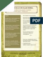 Feuille de Kaicedra - Septembre 2010