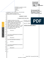 Vegas Shooting Supreme Court Appeal 18-15309 Filed Notice of Cross-Appeal. (Respondent:Cross-Appellant, Las Vegas Review Journal)