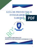 Guía. Proyectos II. Integrador de Saberes. 2018