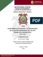 Tesis Sector Turismo de Puno