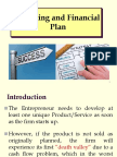 4th Chapter Marketing Research and Financial Plan