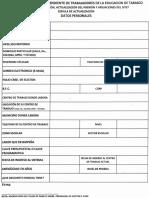 Cedula de Actualizacion - Comision de Revision, Actualizacion Del Padron y Afiliaciones Del Sitet.