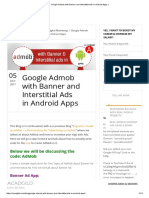 Google Admob With Banner and Interstitial Ads in Android Apps