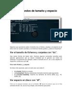 Linux Comandos de Tamaño y Espacio
