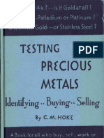 Testing Precious Metals C. M. Hoke Screen Readable.