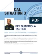 Pep Guardiloa Transition Attack to Defence Tactics Plus Session