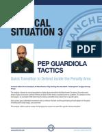 Pep Guardiloa Transition Attack to Defence Tactics Plus Session