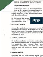 Types of Qualitative Analysis