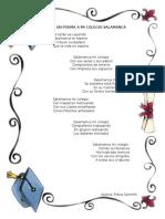 Poema Al Colegio Salamanca