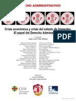 Crísis Económica y Crisis Del Estado de Bienestar El Papel Del Derecho Administrativo