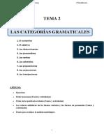 Tema 2_Las Categorías Gramaticales