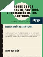 Enfoque de Los Sistemas de Partidos y Formación