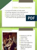 Week 9 Part 5 Mannerist Style Characteristics