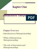 1st Chapter Entrepreneurship
