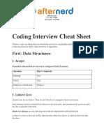 Coding Interview Cheat Sheet