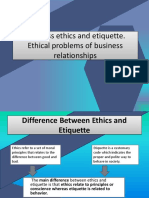 Business Ethics and Etiquette