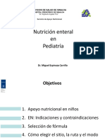 Nutrición Enteral en Pediatría SAN 2018