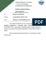 INFORME Nº 002 Topo Manejo