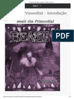 Beast the Primordial - Introdução · Mundo Das Trevas