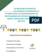 Categorización de Investigadores - COLCIENCIAS