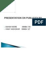 Presentation on Publicity