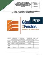 Procedimiento de Inspección Para Maquinas de Corte, Prensas y Matrices.