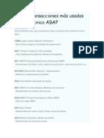 Las 15 Transacciones Más Usadas Por Un Técnico ABAP