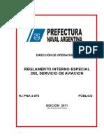 Proyecto Reglamento Interno Servicio de Aviacion PNA
