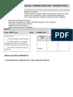 Evaluación Sexto Bàsico Unidad 1 Primera Parte