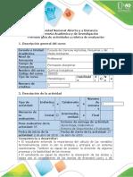 Guía de Actividades y Rúbrica de Evaluación - Tarea 4 - Termodinámica Química