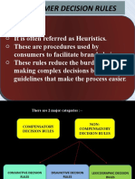 Consumer Decision Rules Ppt