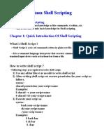 Linux Shell Scripting