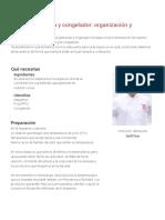 Despensa, Nevera y Congelador Organización y Almacenamiento