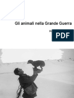 Gli Animali Nella Grande Guerra