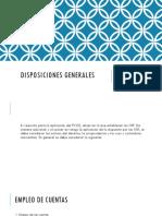 DISPOSICIONES GENERALES PCGE