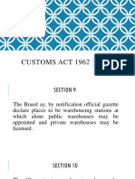Customs Act 1962