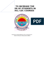 How to Increase the Number of Students in the Hcl Cdc Courses