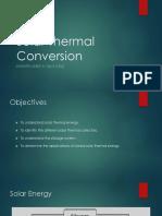 Solar Thermal Conversion