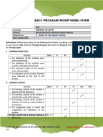 Career Guidance Program Monitoring Form Modules 1-8