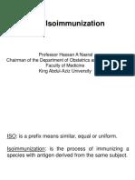 Rh Isoimmunisation