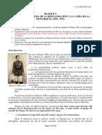 Bloque 9. La Crisis Del Sistema de La Restauración y La Caída de La Monarquía (1902-1931)