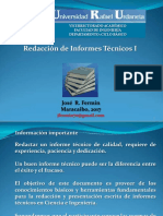 Redacción de Informes Técnicos. Parte I