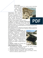 Contaminación Del Agua y Del Suelo. Xplosión Demográfica