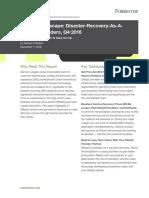 Forrester Vendor Landscape DRaaS Q4 2016